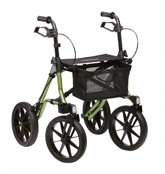 TAiMA XC PU-bereift Outdoor-Rollator
